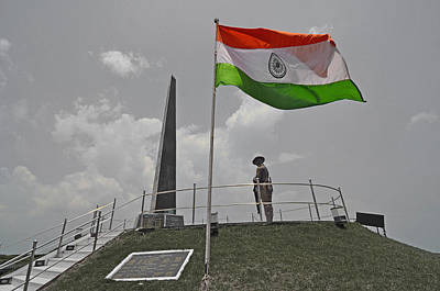 Indian National Flag At War Memorial Original