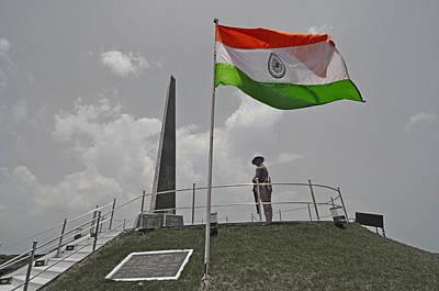 Indian National Flag At War Memorial Original by Bhaswaran Bhattacharya