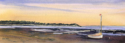 Cape Cod Painting - Indian Neck Sunset by Heidi Gallo