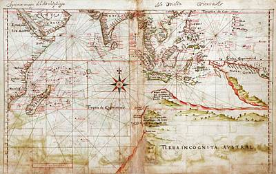 Austral Wall Art - Photograph - Indian Ocean by Library Of Congress, Geography And Map Division