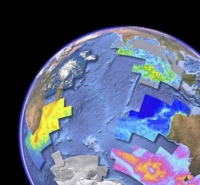 Aperture Photograph - Indian Ocean, Satellite Imaging Data by Science Photo Library