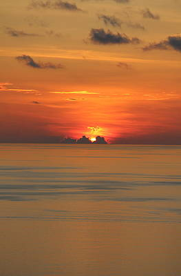 Photograph - Indian Ocean Sunset  by Debbie Cundy