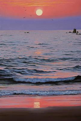 Artdeco Painting - Indian Ocean by Vrindavan Das