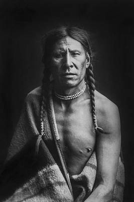 Photograph - Indian Of North America Circa 1900 by Aged Pixel