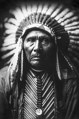 Portraits Royalty-Free and Rights-Managed Images - Indian of North America circa 1905 by Aged Pixel