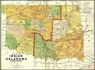 Painting - Indian - Oklahoma Territories by Pg Reproductions