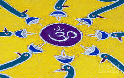 Indian Art Photograph - Indian Om Rangoli Festival Design by Tim Gainey