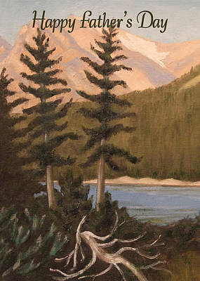 Painting - Indian Peaks Card by Ruth Soller