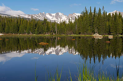 Photograph - Indian Peaks Reflection by Aaron Spong