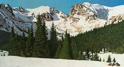 Indian Peaks Winter Art Print
