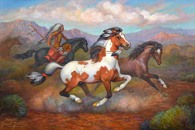 Gallup Painting - Indian Pinto Pony by Marilyn Shanto Stubbs
