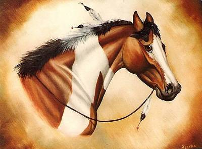 Indian Pony Art Print by Kay Sparks