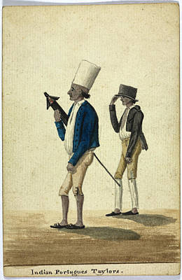 Indian Portugues Taylors Print by British Library