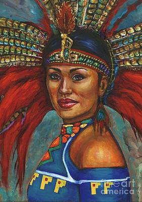 Painting - Indian Princess Portrait by Alga Washington