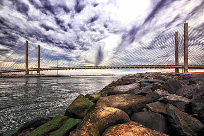Photograph - Indian River Bridge Clouds by Bill Swartwout