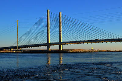 Photograph - Indian River Bridge Morning Light by Bill Swartwout