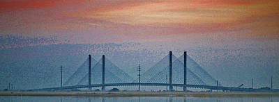 Photograph - Indian River Bridge Saturation by William Bartholomew