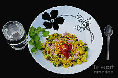 Tomato Photograph - Indian Snacks - Poha by Image World