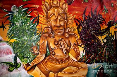 Photograph - Indian Style Graffitti In Torremolinos by Brenda Kean