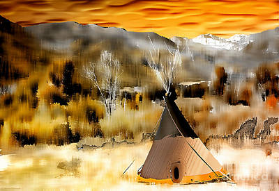 Indian Summer Art Print by Barbara D Richards