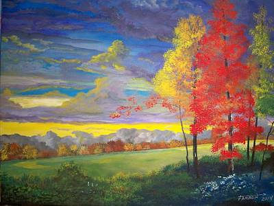 Painting - Indian Summer by Dave Farrow