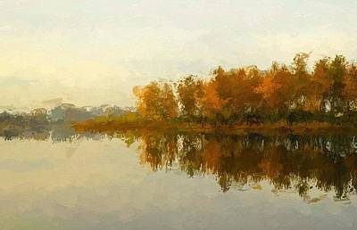 Water Reflections Mixed Media - Indian Summer by Steve K