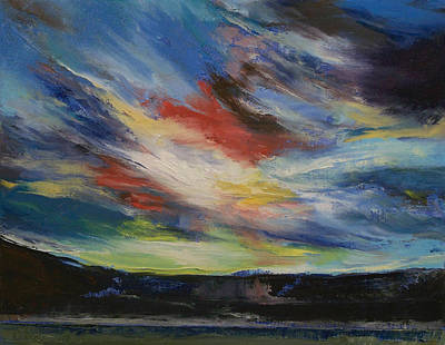 Impasto Oil Painting - Indian Sunset by Michael Creese