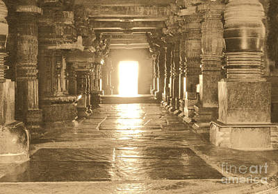Art Print featuring the photograph Indian Temple by Mini Arora