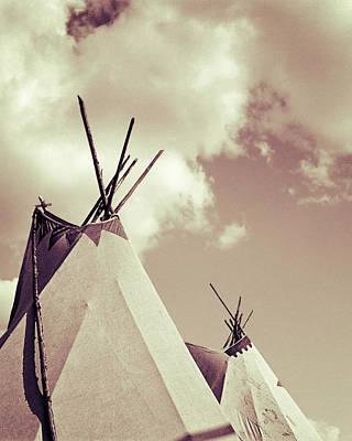Indian Tepees Art Print by Carlos Lazurtegui