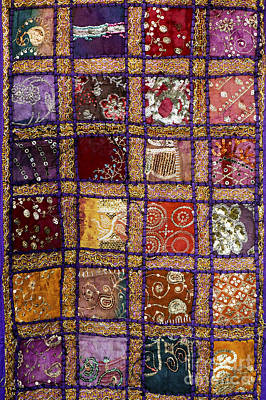 Embroidered Photograph - Indian Textile Wall Hanging by Tim Gainey