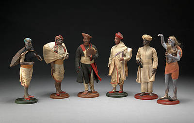 Indian Trades And Occupations A Group Of Six Bengali Print by Litz Collection
