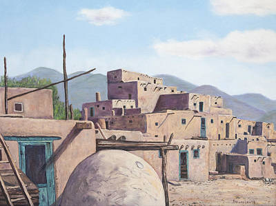 Painting - Indian Village by Frances Lewis