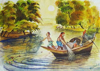 Indian Village Life - 10 Original