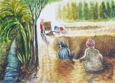 Contemporary Jewellery Painting - Indian Village Life - 12 by Bhanu Dudhat