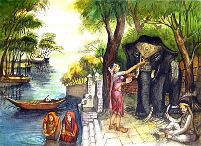 Indian Village Life - 8 Original by Bhanu Dudhat