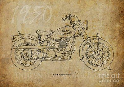Indian Warrior Tt 1950 Art Print by Pablo Franchi