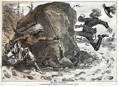 Caricature Painting - Indian Wars, 1878 by Granger