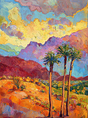 Warm Color Painting - Indian Wells by Erin Hanson