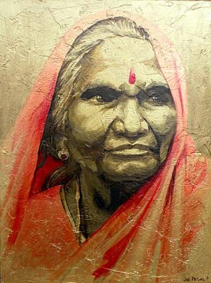 Indian Woman 2 Art Print by Joe Pagac