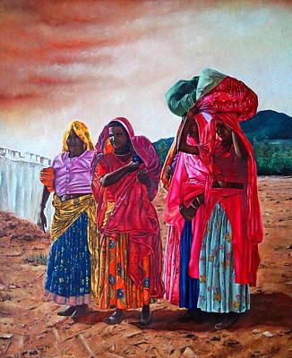 Indian Women Art Print