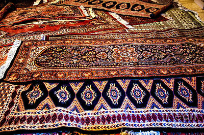 Photograph - Indian Wool Rugs by Rick Bragan