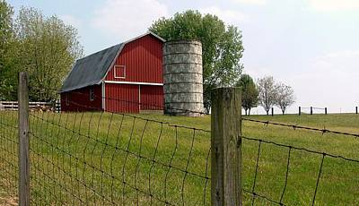 Indiana Barn 3 Print by Nelson Skinner