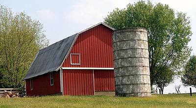 Indiana Barn 4 Print by Nelson Skinner