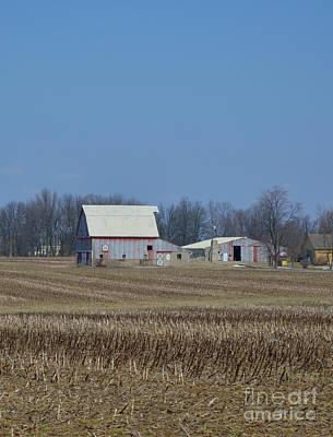 Farmland Photograph - Indiana Barns by Alys Caviness-Gober