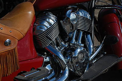 Photograph - Indian Motorcycle by Dany Lison