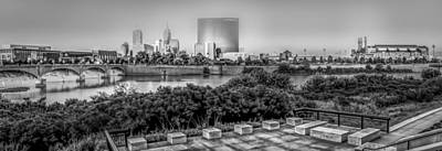 Photograph - Indiana - Downtown From Across White River Panoramic by Ron Pate