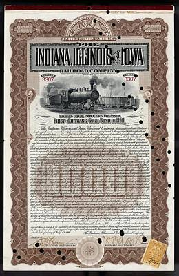 University Of Illinois Drawing - Indiana, Illinois And Iowa  Railroad by Mary Evans Picture Library