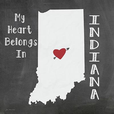 Indiana Art Print by Jo Moulton