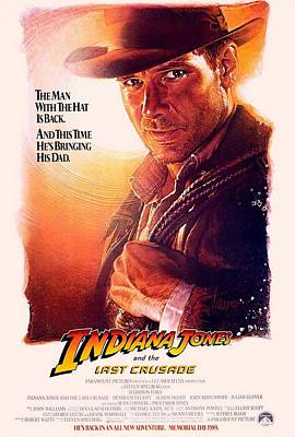 Indiana Jones And The Last Crusade  Art Print by Movie Poster Prints