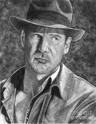 Drawing - Indiana Jones by Christian Conner